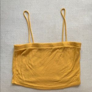 Yellow Crop Top